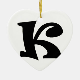 Letter K_large Christmas Ornament