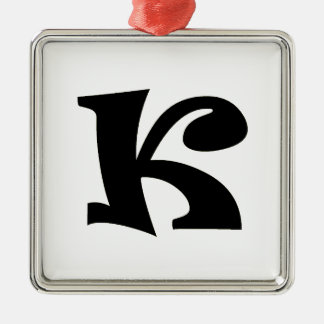 Letter K_large Christmas Ornament