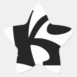 Letter K_large Star Sticker