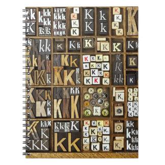 Letter K Notebooks