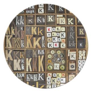 Letter K Plate