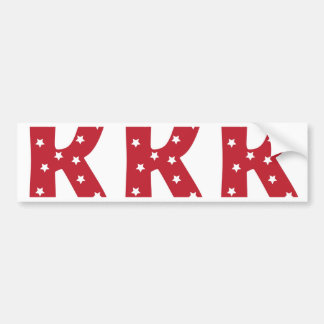 Letter K - White Stars on Dark Red Bumper Sticker