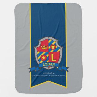 Letter L Logan custom crest name meaning blanket
