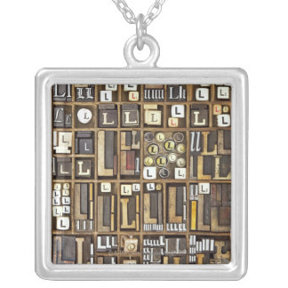 Letter L Silver Plated Necklace