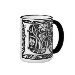 Letter 'L' William Morris Design - Mug