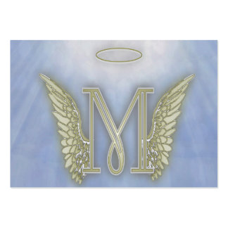 Letter M Angel Monogram Pack Of Chubby Business Cards