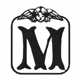 Letter M Angel Monogram Embroidered Shirt