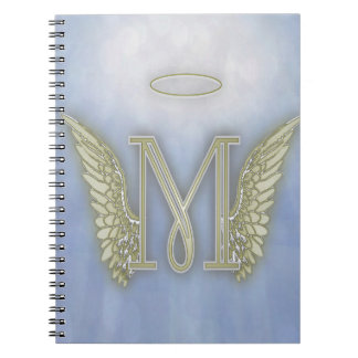 Letter M Angel Monogram Notebook