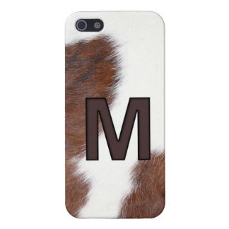 Letter M Brand Cowhide Livestock Iphone 5 Case