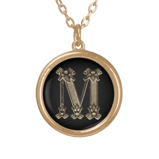 Letter M Circle Necklace2 Custom Necklace