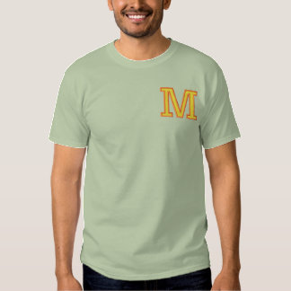 Letter M Embroidered T-Shirt
