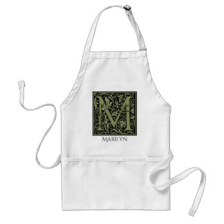 Letter M First Letter Monogram Personalized Standard Apron