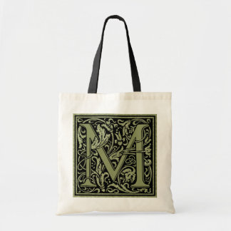 Letter M First Letter Monogram Tote Bag