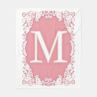 Letter M Fleece Blanket