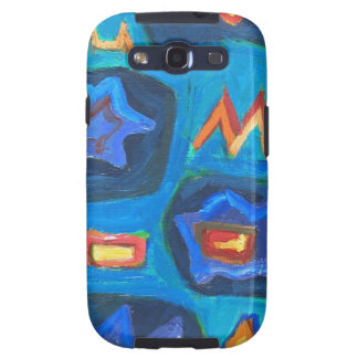 Letter M in a Cave abstract naive symbolism Samsung Galaxy S3 Cases