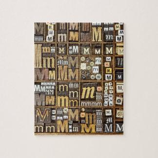 Letter M Jigsaw Puzzle