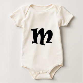 Letter M_large Baby Bodysuit