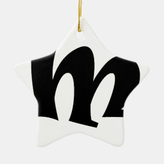 Letter M_large Christmas Ornament
