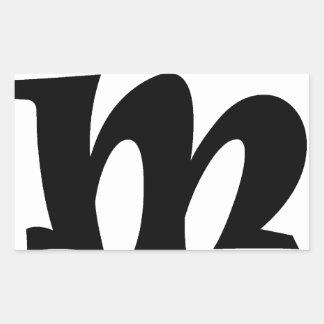 Letter M_large Rectangular Sticker