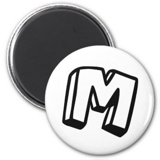 Letter M Magnet
