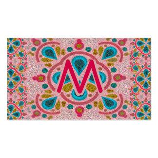 Letter M Mandala Monogram Pack Of Standard Business Cards