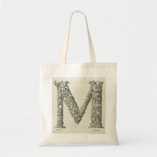 Letter 'M' Monogram Budget Tote