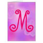 Letter M Monogram Notecard Stationery Note Card