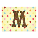 Letter M Personalized Announcements
