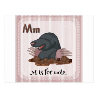 Letter M Postcard