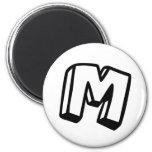 Letter M Refrigerator Magnets