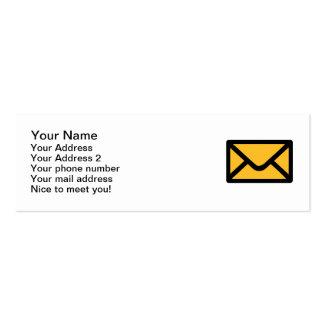 Letter mail envelope business card