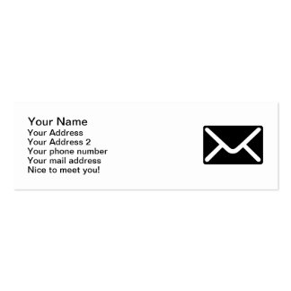 Letter mail envelope business card template