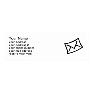 Letter mail envelope icon business card templates