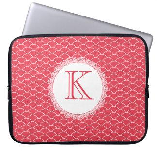 Letter Monogram Poppy Red Designer Laptop Bag Computer Sleeves