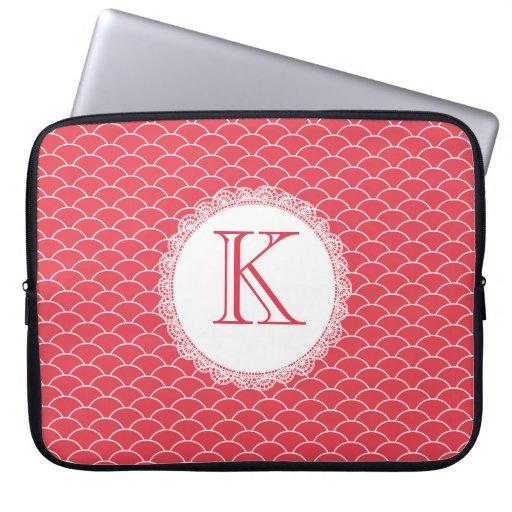 Letter Monogram Poppy Red Designer Laptop Bag Laptop Computer Sleeves