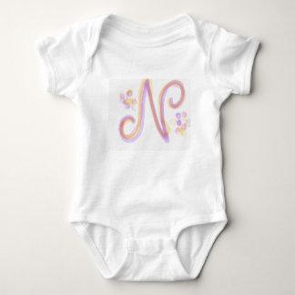 Letter N Baby Onsie Baby Bodysuit