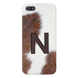 Letter N Brand Cowhide Livestock Iphone 5 Case