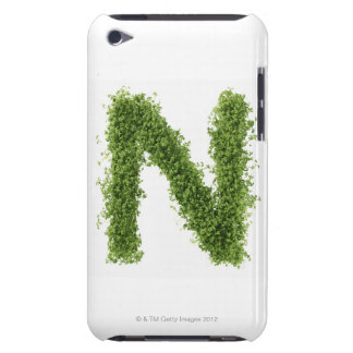 Letter 'N' in cress on white background, Barely There iPod Case