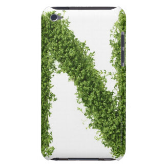 Letter 'N' in cress on white background, Barely There iPod Cases