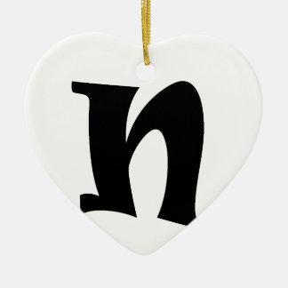 Letter N_large Christmas Ornament