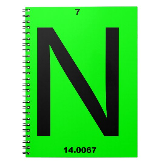 Letter N periodic table Notebooks