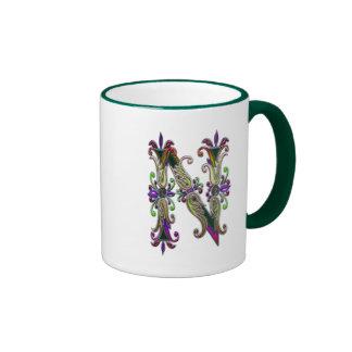 Letter N Pictorial Alphabet Ringer Mug