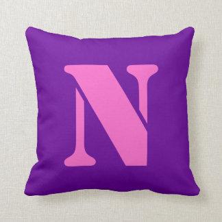 Letter N Pillows