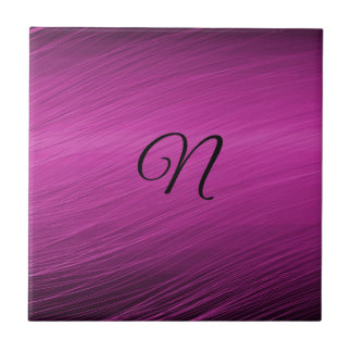 Letter N Small Square Tile