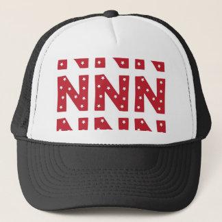 Letter N - White Stars on Dark Red Trucker Hat