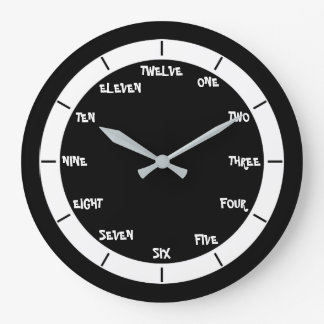 Letter Numbers Wallclock