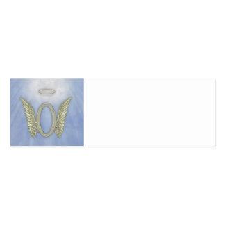 Letter O Angel Monogram Pack Of Skinny Business Cards