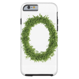 Letter 'O' in cress on white background, Tough iPhone 6 Case