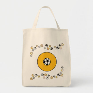 Letter O in Soccer Gold Monogram Tote Tote Bags