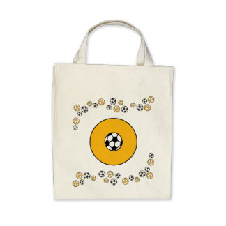 Letter O in Soccer Gold Monogram Tote Tote Bags